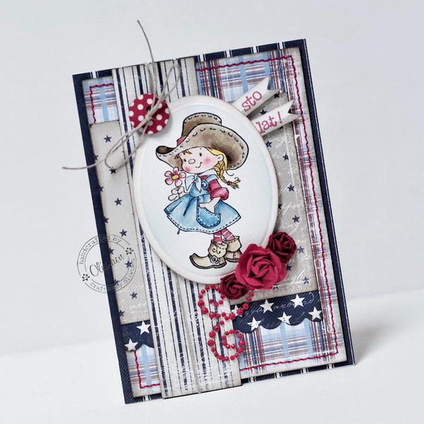 Sweet Cowgirl Card *GD Maja Design*