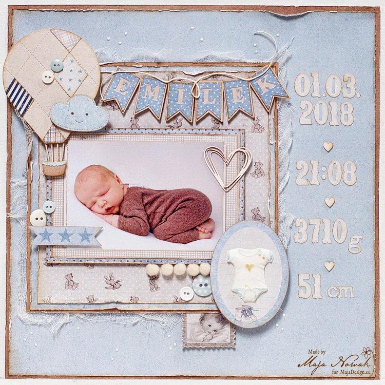 Welcome Baby Boy *DT Maja Design*