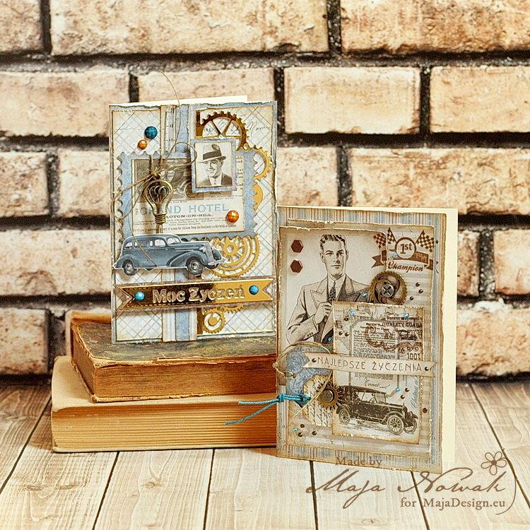 Masculine Cards *DT Maja Design*