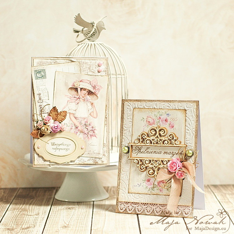 Shabby Chic Cards *DT Maja Design*