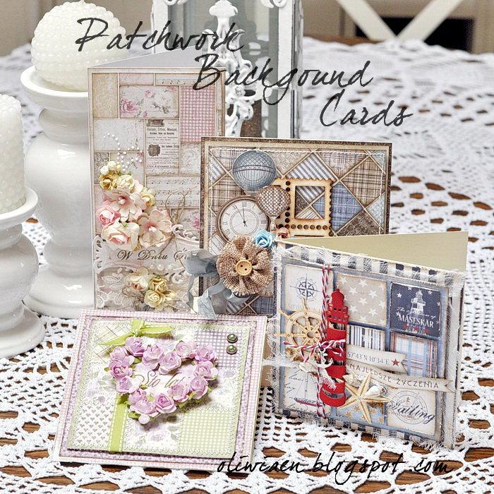 Patchwork Background Cards *DT Maja Design*