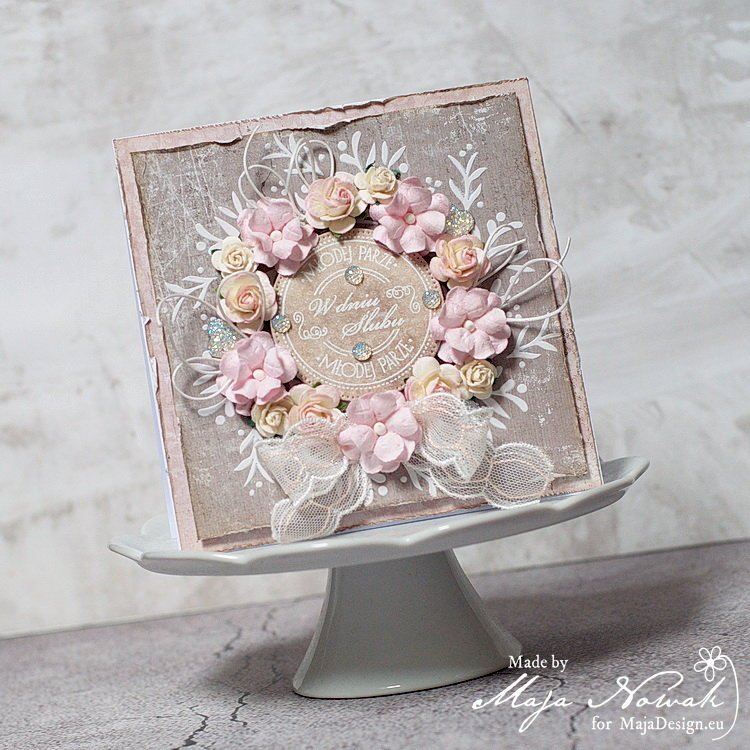 Shabby Chic Wedding Card *DT Maja Design*