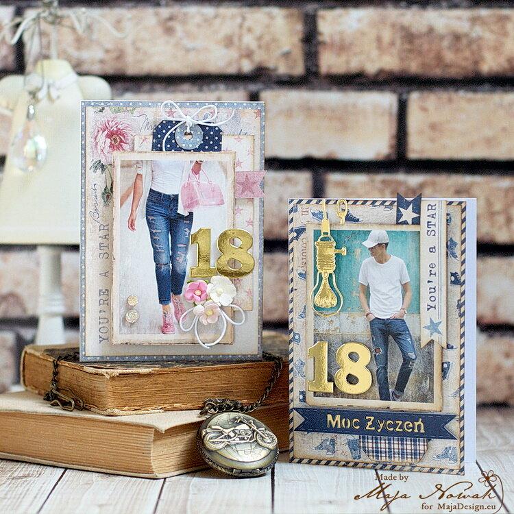 18th Birthday Cards *DT Maja Design*