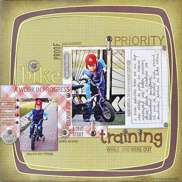 Bike Training *The ScrapCake*