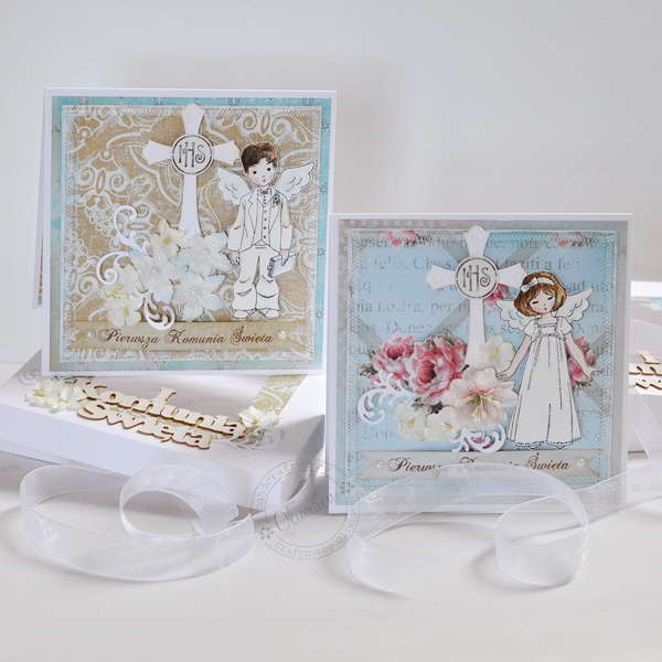 First Communion Cards *DT The ScrapCake*