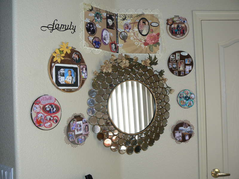 My wall of scrapbooking