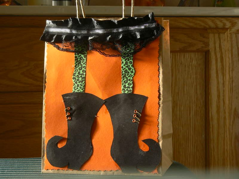 witch's boots bag