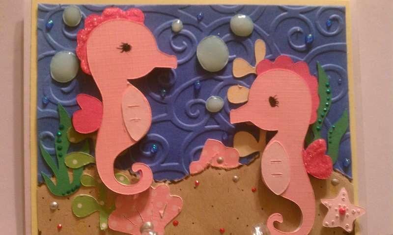 seahorses w/cricut