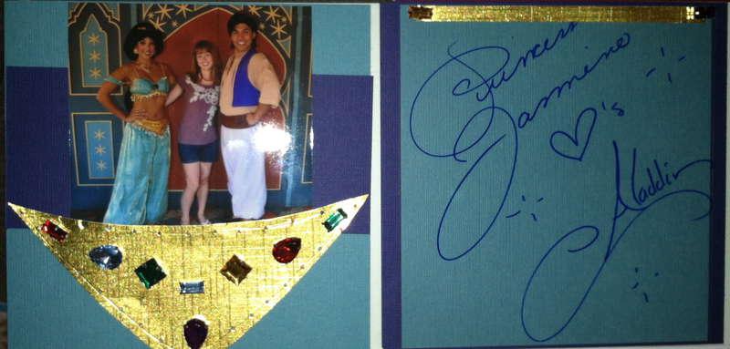 Disney Autograph Book - Jasmin