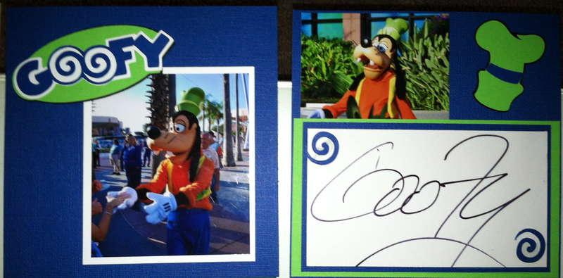 Disney Autograph Book - Goofy