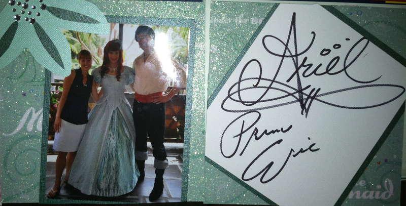 Disney Autograph Book - Ariel and Eric