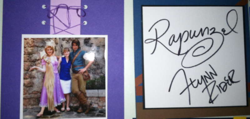Disney Autograph Album - Rapunzel and Flynn