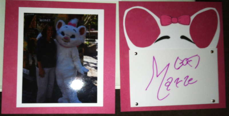 Disney Autograph Album - Marie (from Aristocats)
