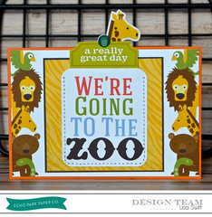 Zoo Party Invitation *Echo Park Day at the Zoo*
