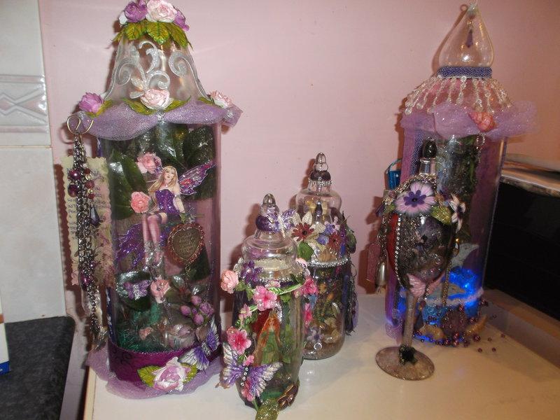 my captured fairy jars