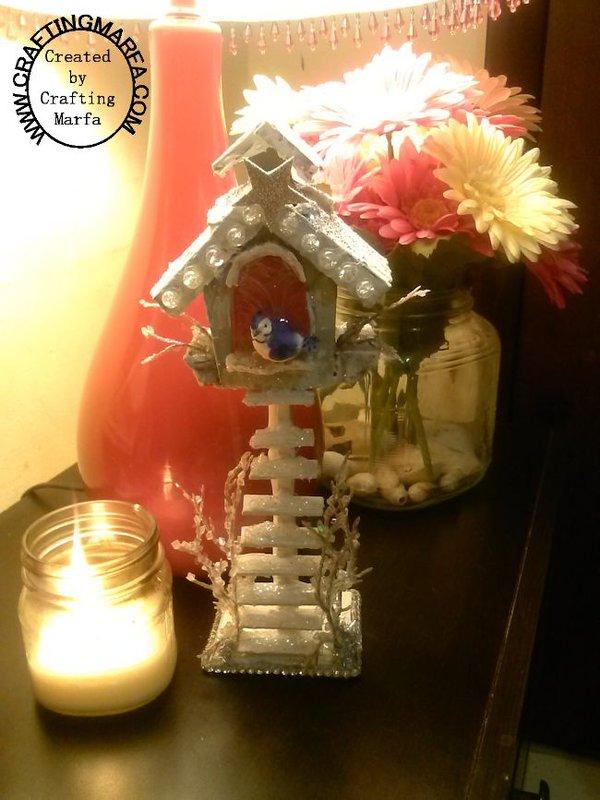 Altered Winter Birdhouse