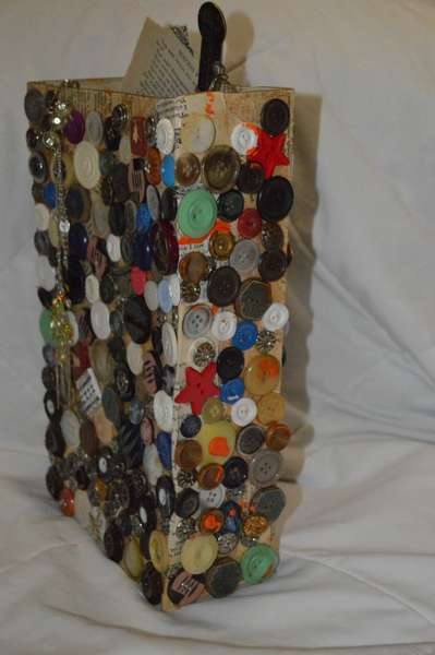 Mixed Media-box of buttons