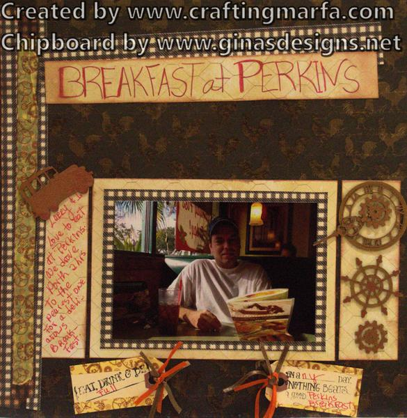 Scrapbook Layout-Breakfast at Perkins