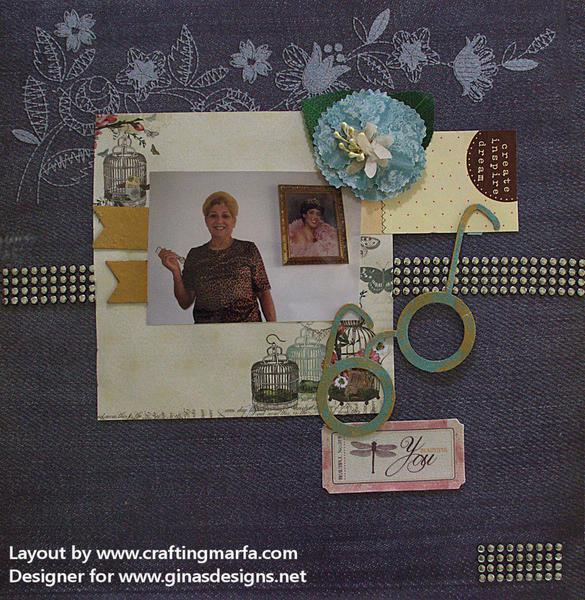 Scrapbook Layout of My Mom