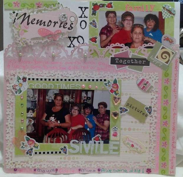 Family Photos Scrapbook Layout