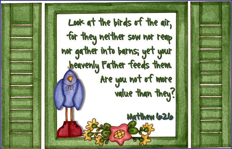 Scripture Card-Matthew 6:26