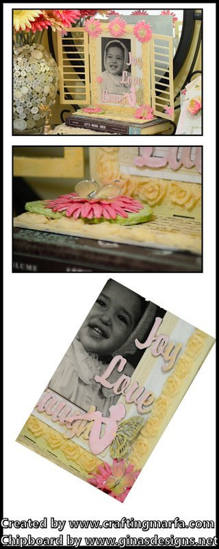 Chipboard Window Photo Frame from Gina's Designs