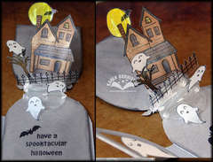 Halloween Pop-up Card using Stamps