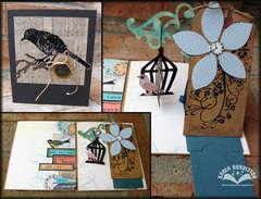 Hanging Birdcage Pop-up Card