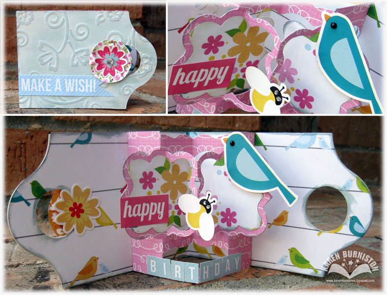 Spring Themed Birthday Pop-up Card