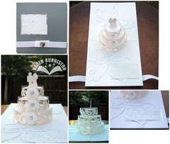 Together Forever Wedding Cake Pop-up Card