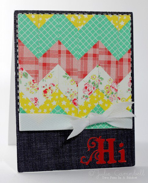 Finally Friday Julie Campbell: Chevron Greetings