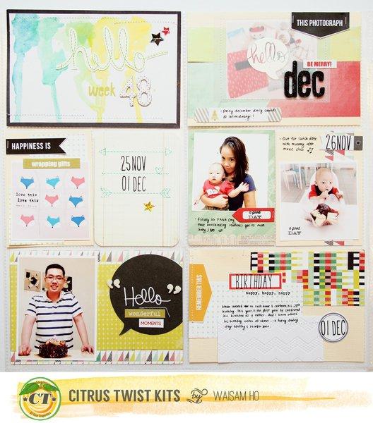 Project Life Week 48 *Citrus Twist Kits*