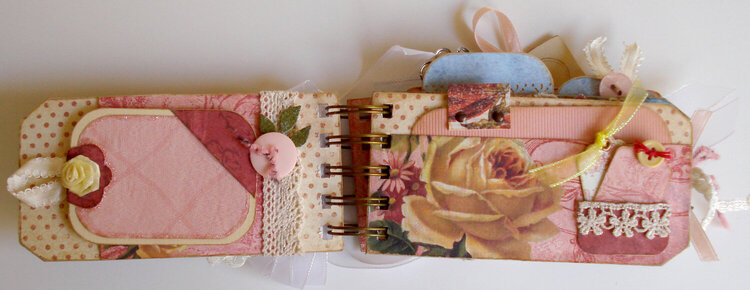 Roses Tag Album, pg 1 and 2