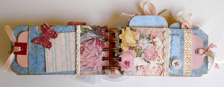 Roses Tag Album, pg 3 and 4
