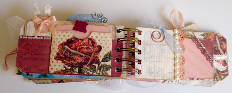 Roses Tag Album, pg 6 and 7