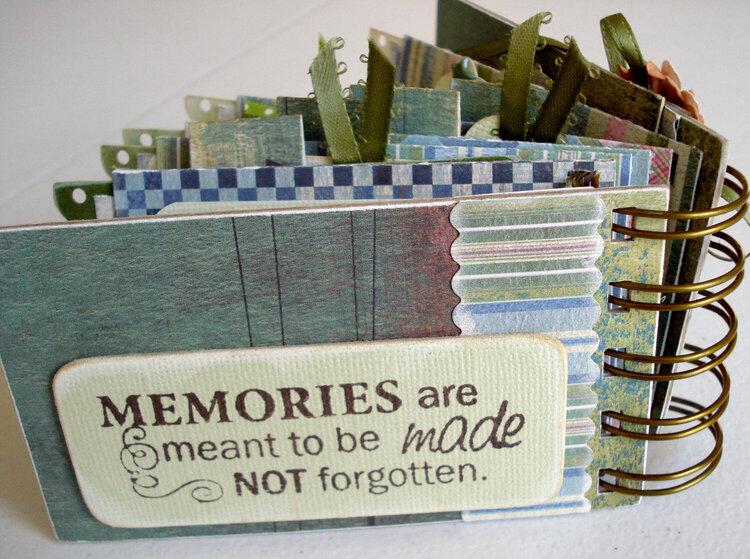 Memories Mini Photo Album - Back Cover