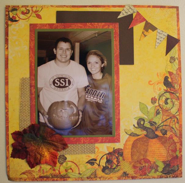 Ryan and Josie-Pumpkin Carving 2012