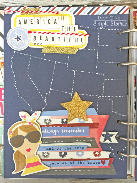 Patriotic Two-Page Divider for July