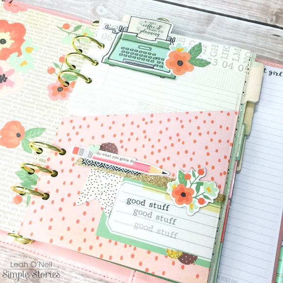 Customized Planner Pocket Page