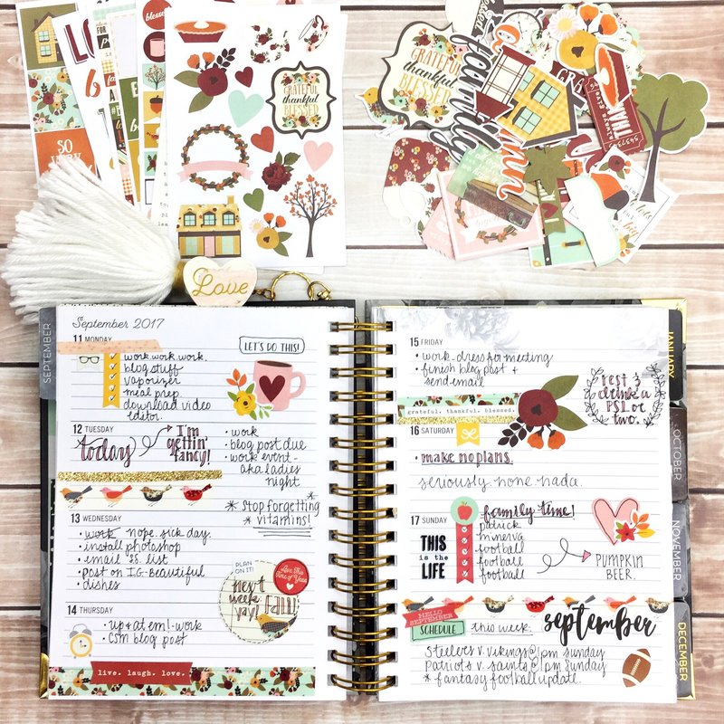 Fall Weekly Planning
