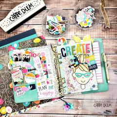 Creative Journal Setup in my A5 Carpe Diem Planner