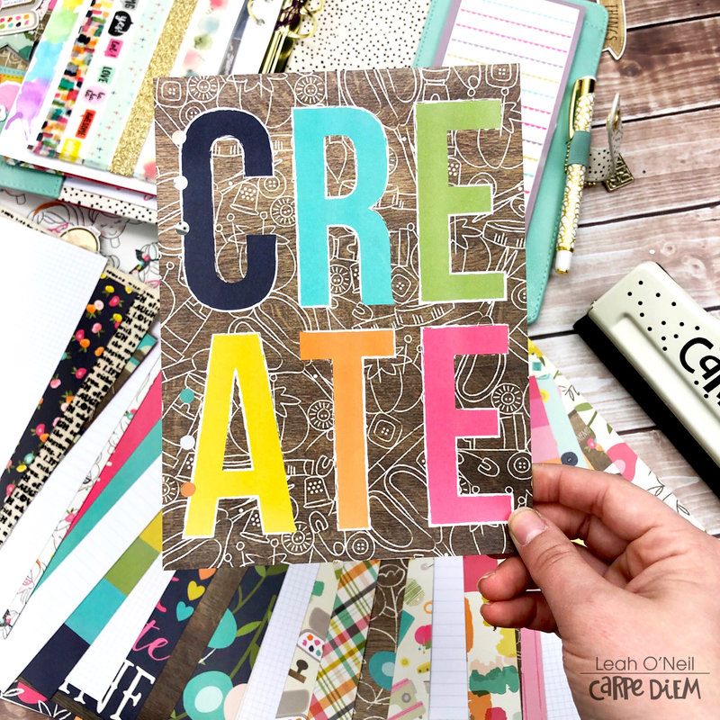 Creative Journal Setup in my A5 Carpe Diem Planner