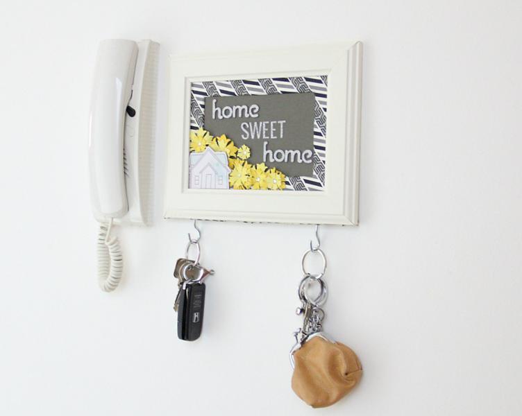 Handmade Altered Frame Key Holder