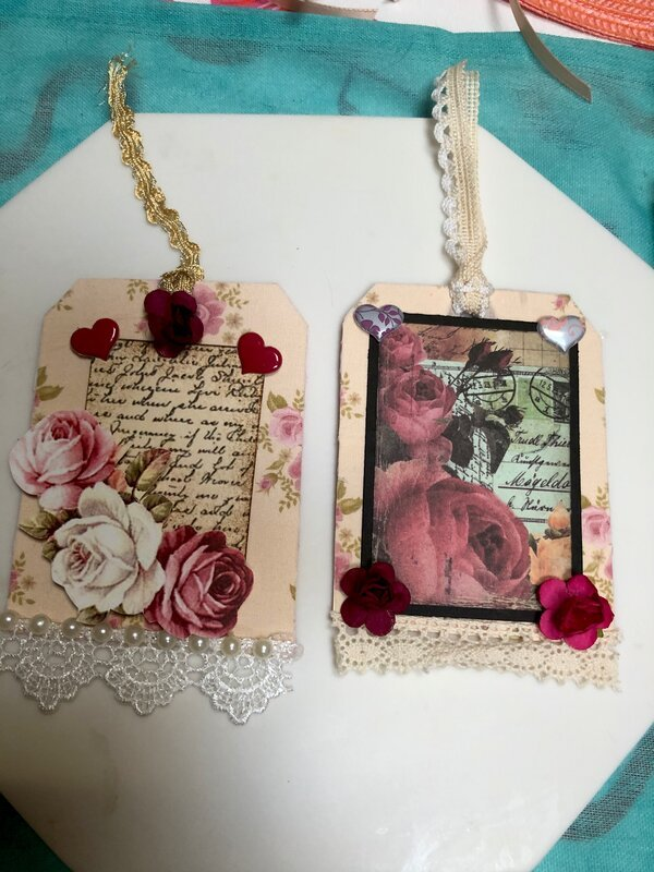 Altered shabby chic tags