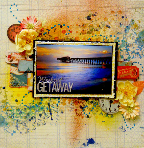 """Weekend getaway"" Scraps of darkness Febuary kit"