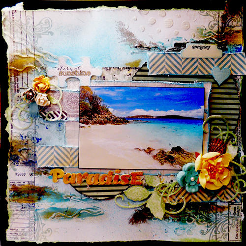 """Paradise"" scrapsofdarkness feb kit"