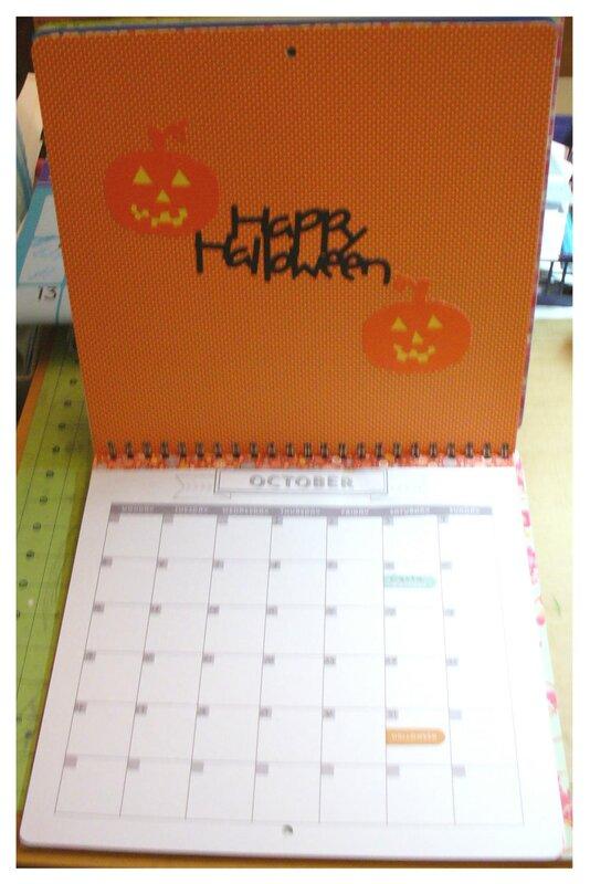 Oct. Calendar Page