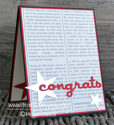 DIY Card: Masculine Congratulations Card