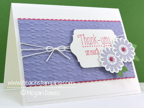 DIY Card: Making a thank You Card