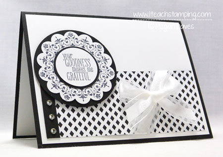 Handmade Greeting Card (Your Goodness Makes Me Grateful)